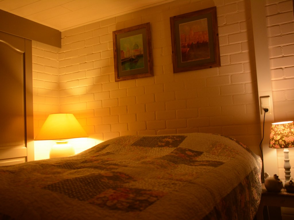 Slaapkamer beneden, aangrenzend de badkamer